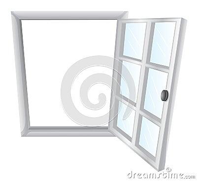Solo marco de ventana