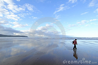 Solo sulla spiaggia