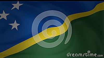 Solomon Island Flag Flowing in de Wind vector illustratie