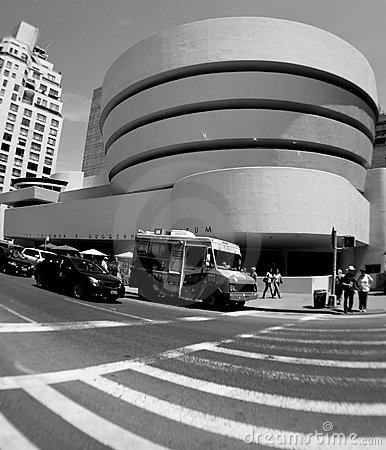 The Solomon R. Guggenheim Museum in New York City Editorial Photo