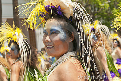 Solstice parade dancer Editorial Photography