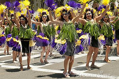 Solstice parade dancers Editorial Stock Image