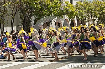 Solstice parade dancers Editorial Photo