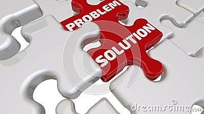 Solução do problema A inscrição no elemento faltante do enigma ilustração do vetor