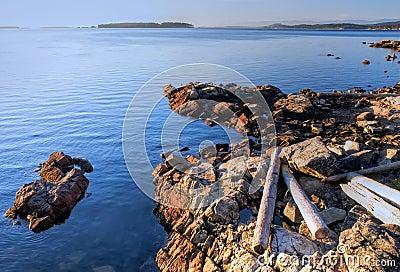Soluppgång vancouver för höstKanada ö