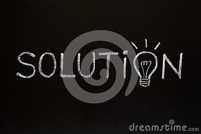 Solution concept on blackboard