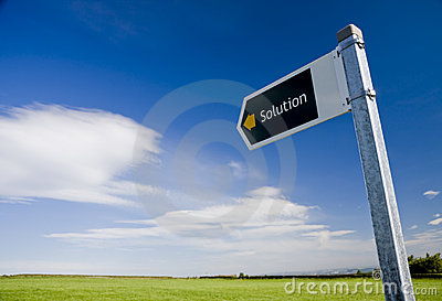 Solution direction sign