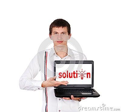 Solution on laptop
