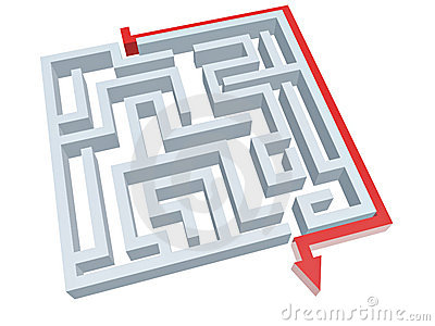 Solution of maze