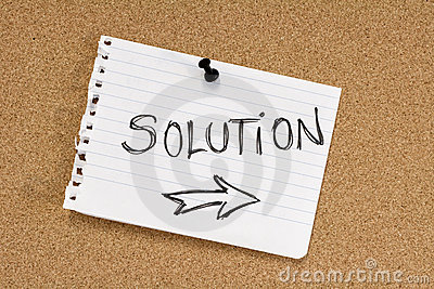 Solution note on pinboard