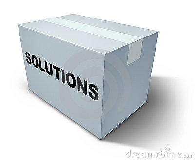 Solutions Box Stock Images - Image: 21270014