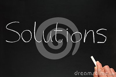 Solutions, written on a blackb