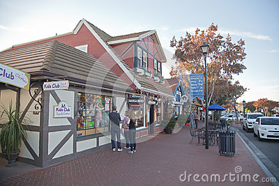 Solvang street Editorial Image