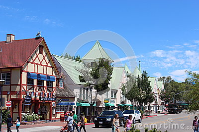Solvang town Editorial Stock Photo