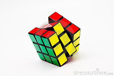 Solved Rubik s Cube Editorial Image