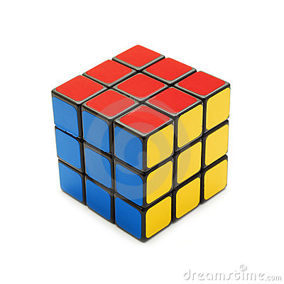 Solved rubik s cube Editorial Photo