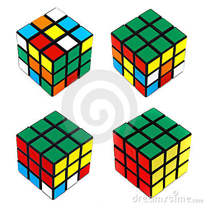 Solving Rubik s Cube Editorial Stock Photo