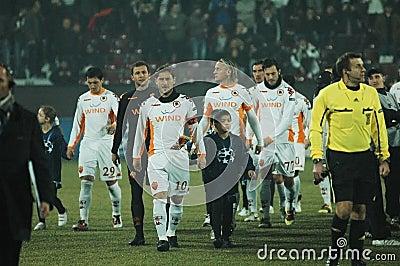 Som den beginningcfrcluj matchen roma Redaktionell Fotografering för Bildbyråer