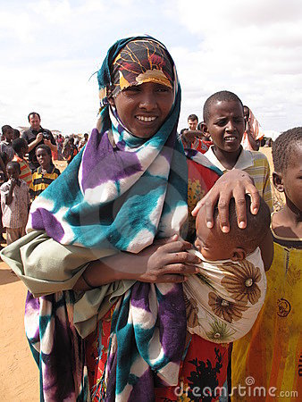 Somalia Hunger Refugee Camp Editorial Photography