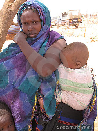 Somalia Hunger Refugee Camp Editorial Photo