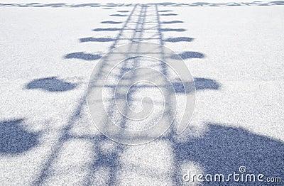 Sombra da iluminação do estágio