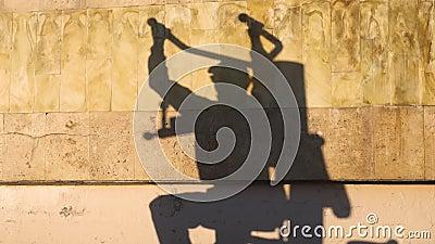 Sombra na parede do homem do exerc?cio filme