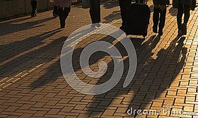 Sombras de los viajeros