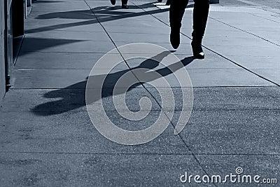 Sombras do passeio dos povos