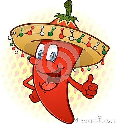 Sombrero Chili Pepper Thumbs Up