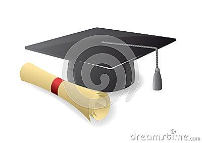 Sombrero de la graduación