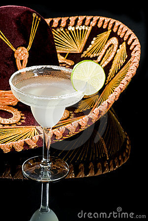 Sombrero and Margarita Cocktail