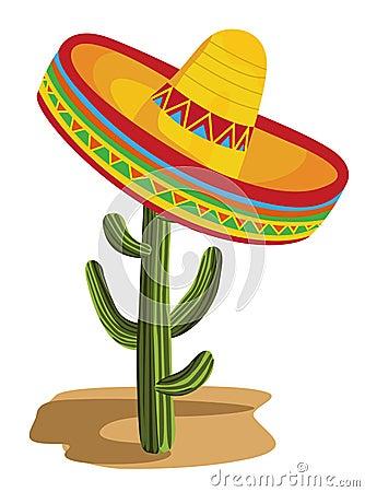 Free Sombrero On Cactus Stock Photo - 20719020