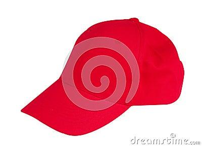 Sombrero rojo del casquillo