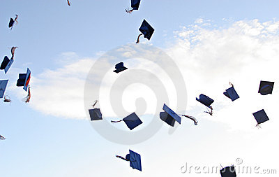 Sombreros de la graduación