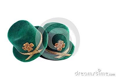 Sombreros superiores del día del St. Patricks