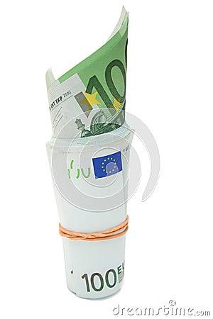 Some 100 euros banknotes