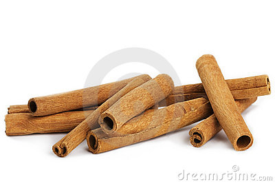 Some cinnamon sticks
