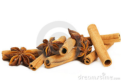 Some cinnamon sticks and star anise
