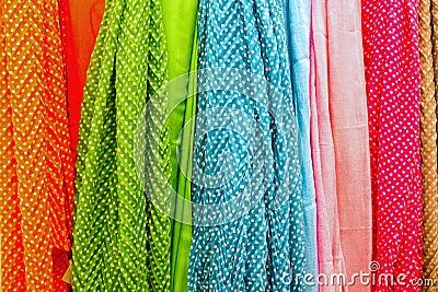 Colourful drapery