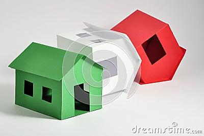 Some italian houses on the edge