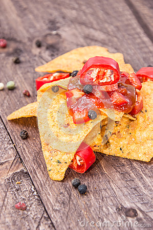 Some Nachos with Salsa Sauce