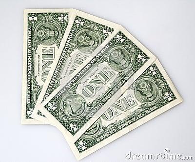 Some one dollar bankbills