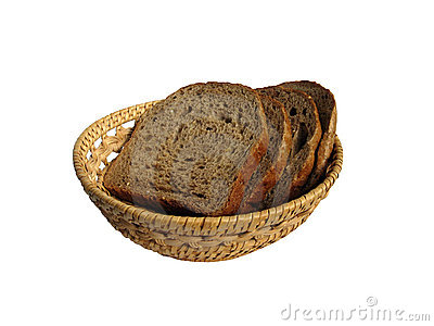 Some slices of bread in the bread-basket