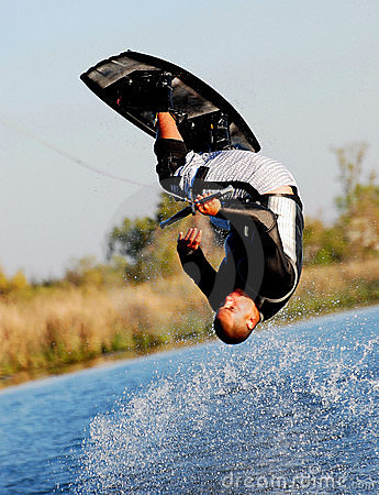 Free Somersault On A Wakeboard 2 Royalty Free Stock Image - 6051466