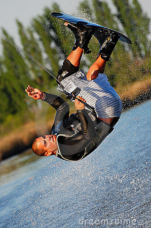 Free Somersault On A Wakeboard Stock Image - 5984831