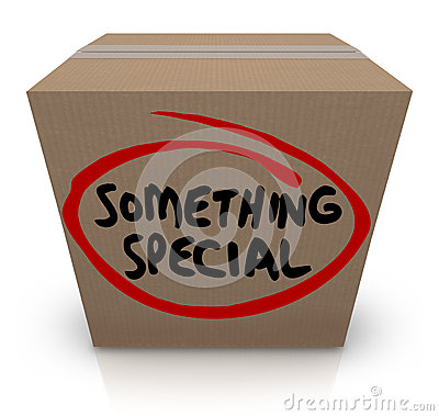 Free Something Special Cardboard Box Gift Delivery Unique Contents Stock Photos - 39236633