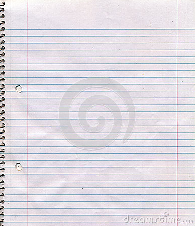 Spiral Bound Notebook Page Background