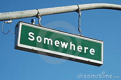 Somewhere sign