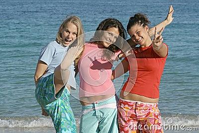 Sommar för strandgruppferie