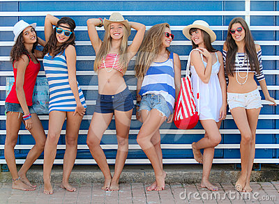 Sommer-Teenager
